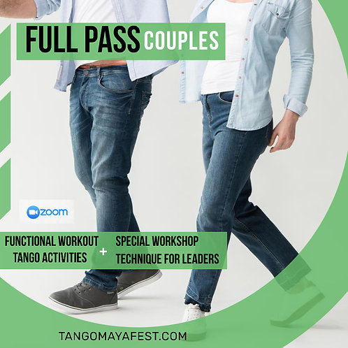 Full Pass for couples TANGO+ FUNCTIONAL+ SPECIAL LEADERS WORKSHOP