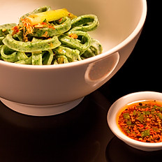 #8 Spinach Noodles with OMG Sauce