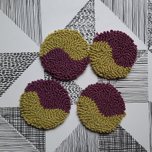 Round Coasters (purple and green)