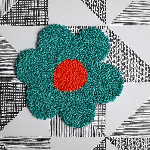 Large Flower (blue/orange)
