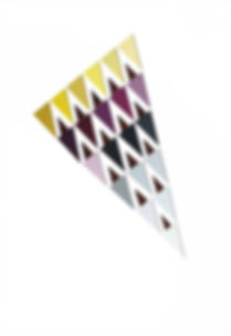Multi color swatch triangle papercut artwork
