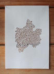 organic papercut artwork by laura walker