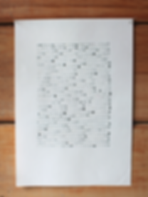 abstract linear dots by laura walker