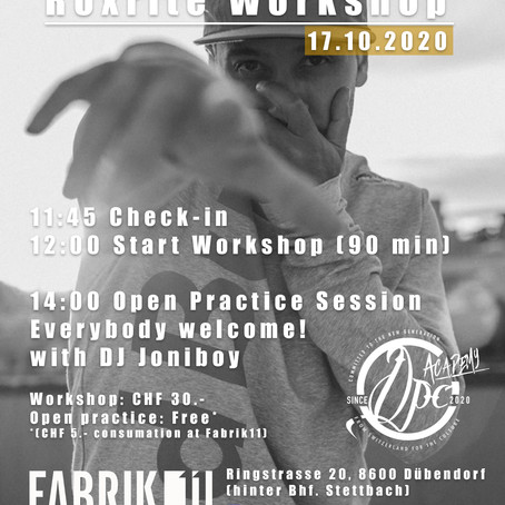 Workshop mit B-Boy Roxrite (USA) am 17.10.2020