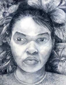 Mirror Drawing, Self Portrait