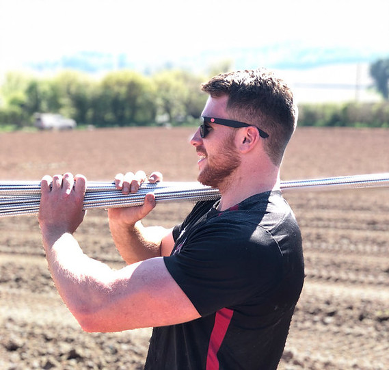 Hot Day Planting in the Vineyard