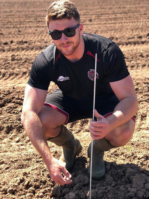 Ben Oliphant-Thompson in the Vineyard