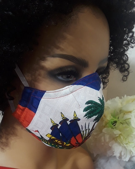 Haitian Flag Face Cover
