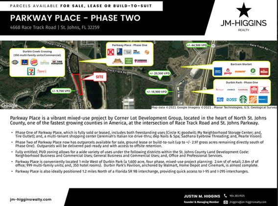 Parkway Place Available Outparcels