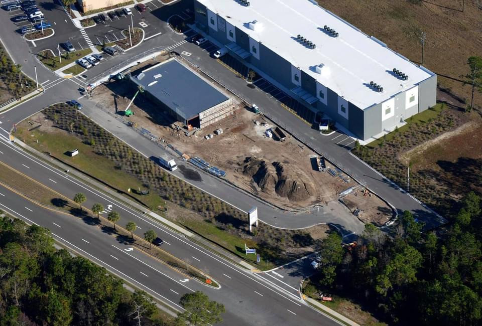 Aerial of My Neighborhood Storage and the retail strip