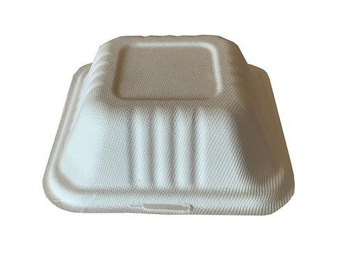 Envase compostable tipo clamshell hamburguesa 50 pzas