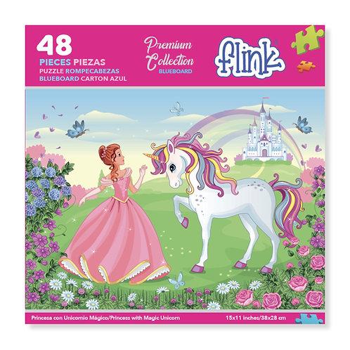 Princesa con Unicornio Mágico