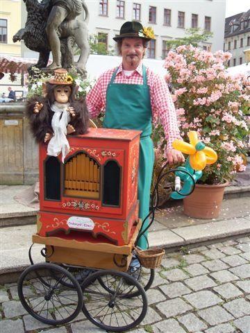 Drehorgel - Klaus | Drehorgelspieler, Leierkastenmann, Gera
