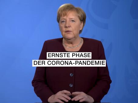 【ドイツ語ニュース解説】メルケル独首相、再びコロナについて警告(2020/10/17のポッドキャスト)