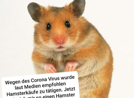コロナウイルスとまとめ買いのドイツ語