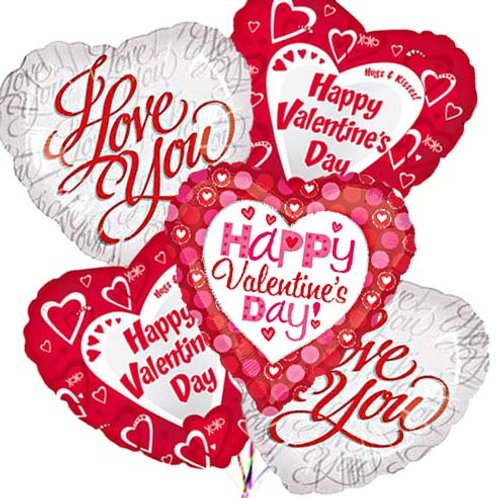 Valentine Balloon Assortment (6pk)