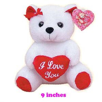 "BEAR 9"" W/I LOVE YOU HEART"