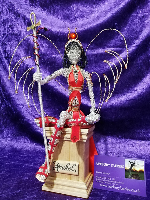 Anuket - Sil Plated Egyptian wire ornament - Avebury Faerie