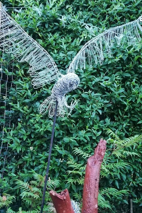 Galvanised Owl - Avebury Faeries