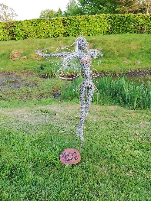 Daisy - Outdoor Wire Sculpture - Avebury Faerie