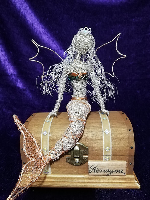 Aerwyna - Sil Plated wire ornament - Avebury Faerie