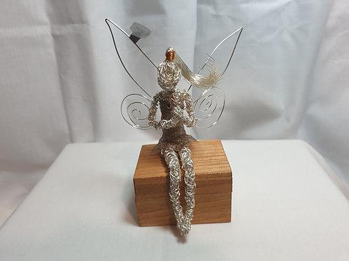 Jo - Avebury Faeries - Handmade silver plated wire sculpture