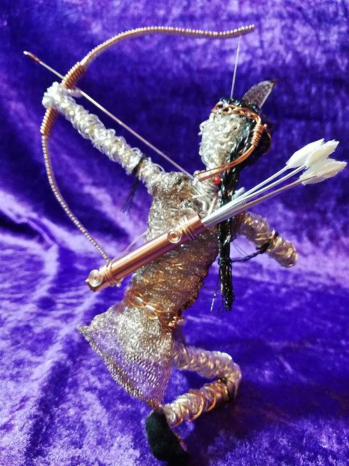 Mika - Sil Plated wire ornament - Avebury Faeries