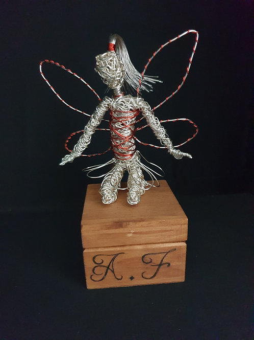 Georgina - Avebury Faeries - Sil plated wire fairy