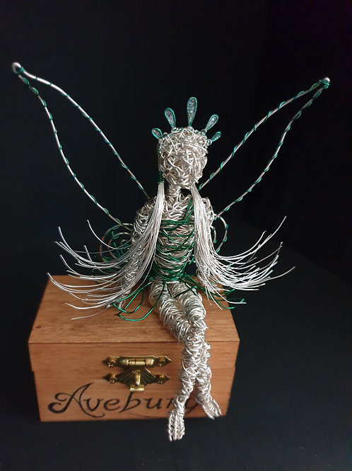 Ava - Avebury Faeries - Silver plated wire sculpture ornament