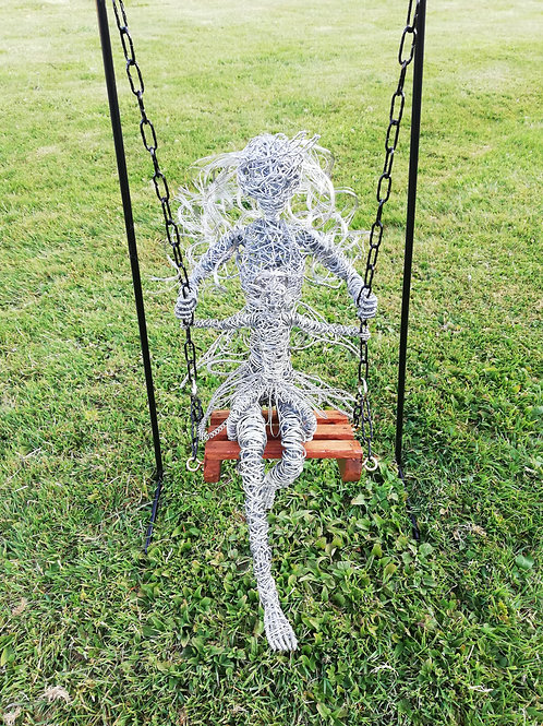SOLD - Beau and Belle - Outdoor Wire Sculpture - Avebury Faeries