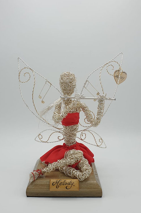 Melody - Sil Plated Wire Ornament - Avebury Faerie