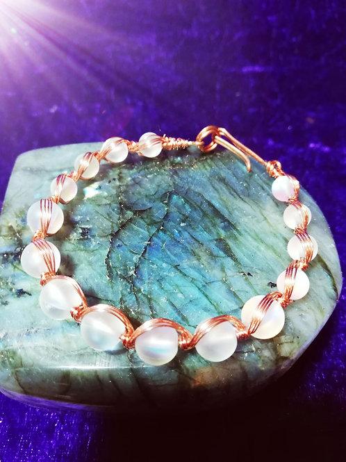 Avebury Faeries - Australian crystal and copper bracelet.