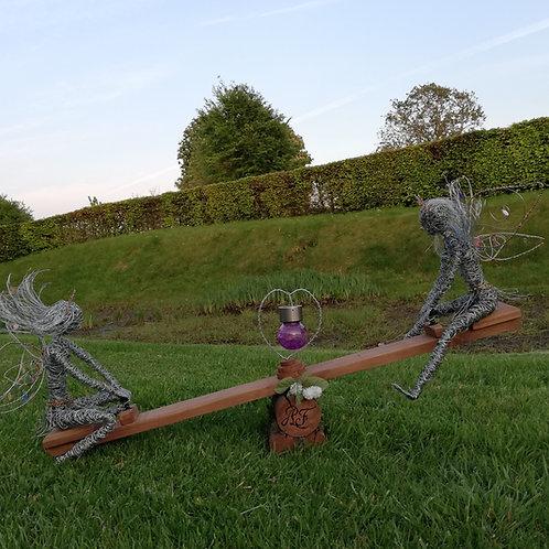 Hazel & Rowan - Outdoor Wire Sculpture - Avebury Faeries