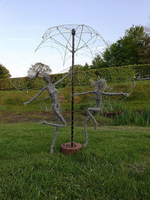 Willow & Poppy - Outdoor Wire Sculptures - Avebury Faeries