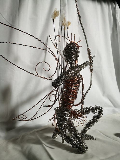 SOLD - Elvinia - Avebury Faerie - Stainless steel ornament sculpture