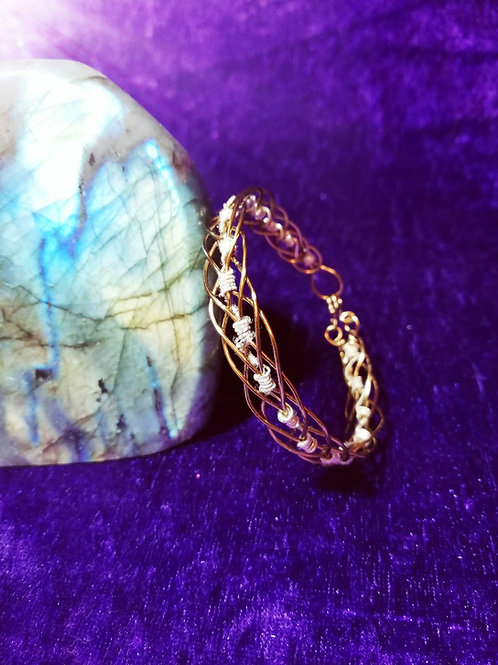 Avebury Faeries - copper wrapped wire bracelet