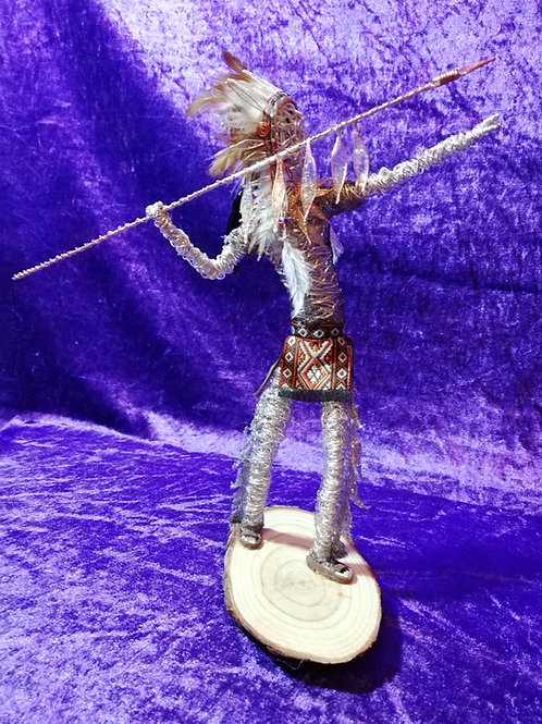 Cochise - Sil Plated wire ornament - Avebury Faerie