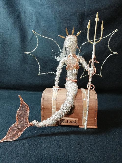 Kailani - Sil Plated wire ornament - Avebury Faerie