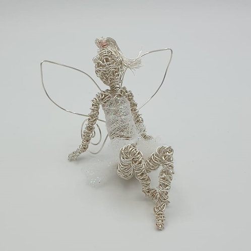 Handmade Silver Plated Fairy Wire Sculpture Ornament