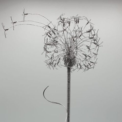 Stainless Steel Dandelion Garden Art Ornament
