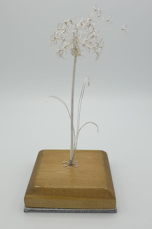 Dandelion Official Flower of The Military Kids Handmade Wire sculpture