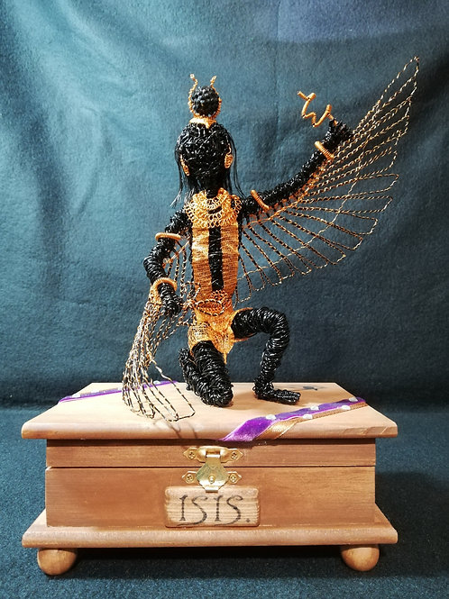 Isis - Sil Plated wire ornament - Avebury Faerie