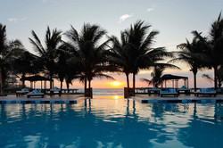 Sunset at Palmazul Hotel