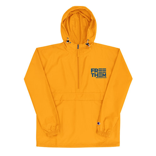 Gold and Blue Windbreaker