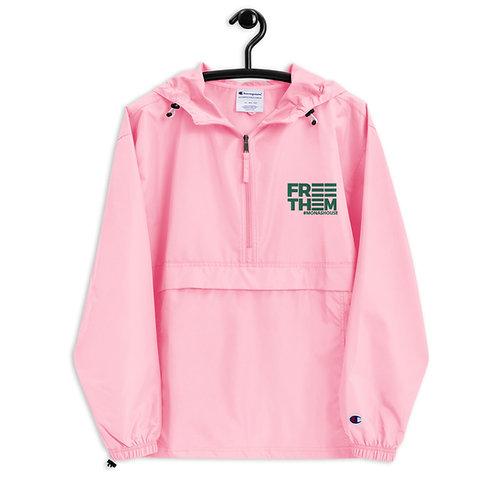 Pink and Green Windbreaker