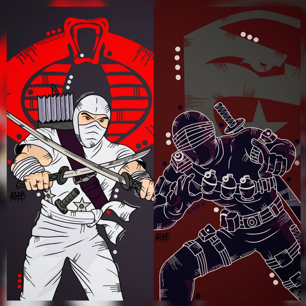 OviArt Snake Eyes and Storm Shadow