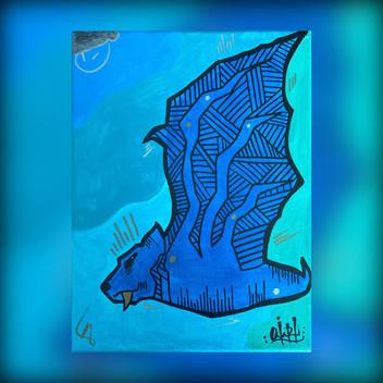 OviArt Blue Bat