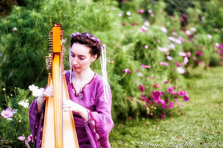 Anima Keltia Celtic Medieval Music Harpist Fairy