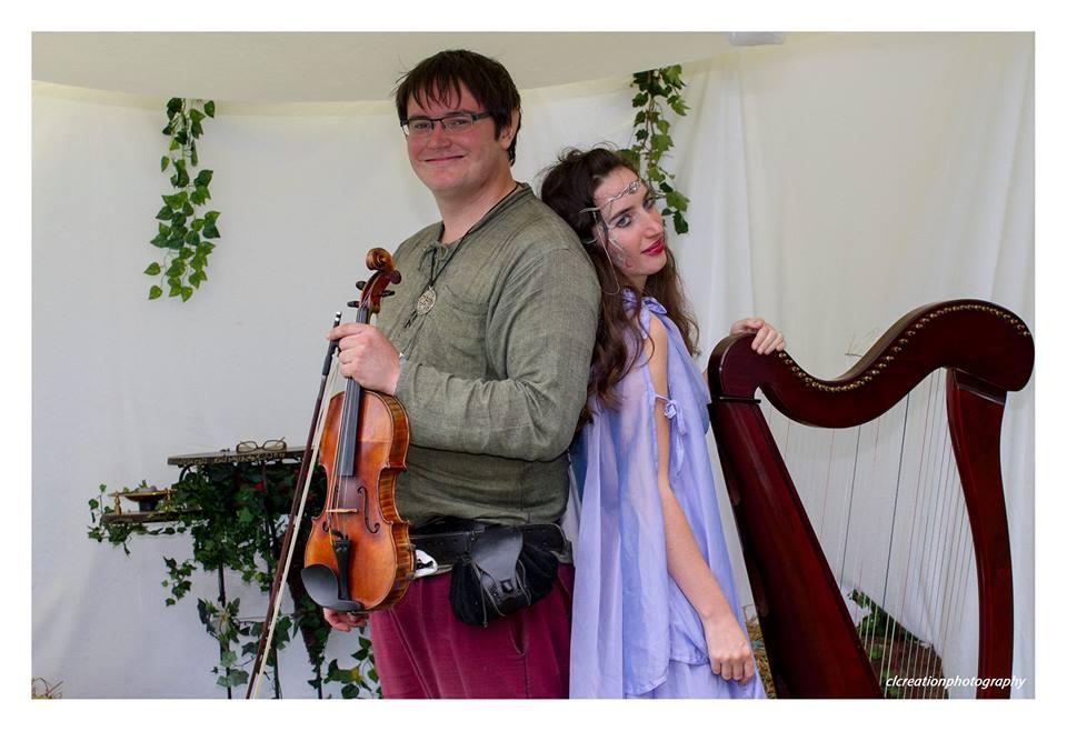 Harpe et violon