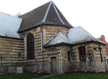 Saint Géry ... église médiévale de Maing et lieu de sépulture de mes ancetres? ... chiesa medievale